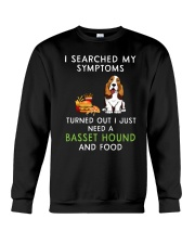Basset Hound and Food Crewneck Sweatshirt tile