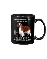Wine and Welsh Springer Spaniel Mug thumbnail