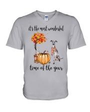 The Most Wonderful Time - Italian Greyhound V-Neck T-Shirt thumbnail