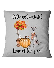 The Most Wonderful Time - Italian Greyhound Square Pillowcase thumbnail