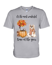 The Most Wonderful Time - Lhasa Apso V-Neck T-Shirt tile
