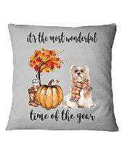 The Most Wonderful Time - Lhasa Apso Square Pillowcase tile