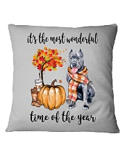 The Most Wonderful Time - Cane Corso Square Pillowcase tile