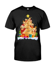 Golden Retriever Christmas Tree Classic T-Shirt front