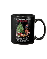 Christmas Wine and Rottweiler Mug thumbnail