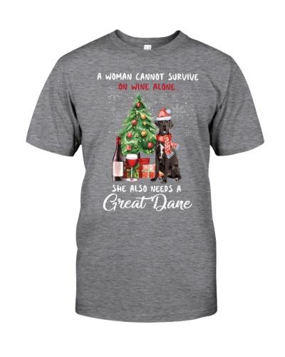 Christmas Wine and Great Dane