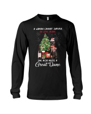 Christmas Wine and Great Dane Long Sleeve Tee thumbnail