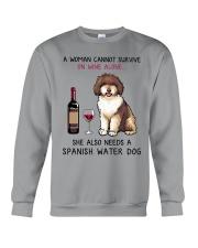 Wine and Spanish Water Dog 2 Crewneck Sweatshirt thumbnail