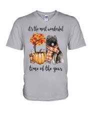 The Most Wonderful Time - Caucasian Shepherd V-Neck T-Shirt thumbnail