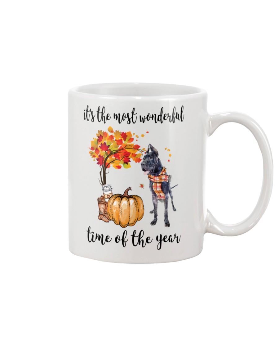 The Most Wonderful Time - Black Great Dane Mug