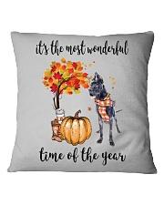 The Most Wonderful Time - Black Great Dane Square Pillowcase thumbnail