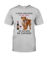 Wine and Eurasier 2 Classic T-Shirt front