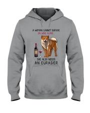 Wine and Eurasier 2 Hooded Sweatshirt thumbnail