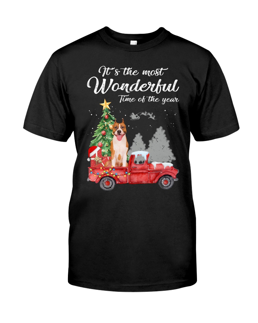 Wonderful Christmas with Truck - Amstaff Classic T-Shirt