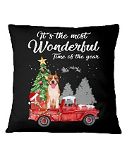 Wonderful Christmas with Truck - Amstaff Square Pillowcase thumbnail