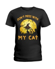 Don't Mess With My Cat  Ladies T-Shirt thumbnail