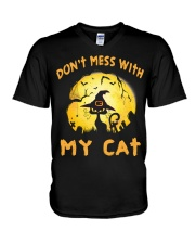 Don't Mess With My Cat  V-Neck T-Shirt thumbnail
