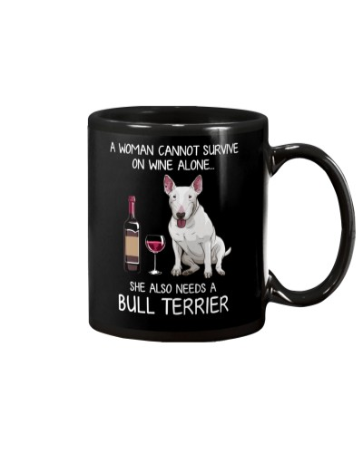 Wine and Bull Terrier