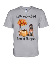 The Most Wonderful Time - Gordon Setter V-Neck T-Shirt tile