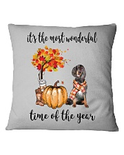 The Most Wonderful Time - Gordon Setter Square Pillowcase thumbnail