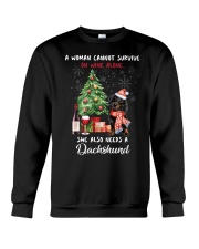 Christmas Wine and Dachshund Crewneck Sweatshirt thumbnail