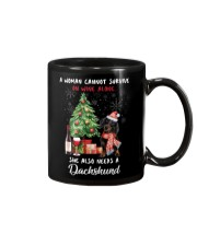Christmas Wine and Dachshund Mug tile