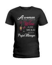 Wine and A Project Manager Ladies T-Shirt thumbnail