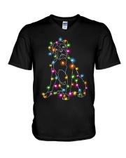 Christmas Light Boxer V-Neck T-Shirt thumbnail