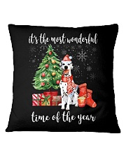 The Most Wonderful Xmas - Dalmatian Square Pillowcase thumbnail