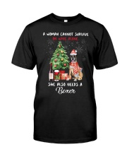 Christmas Wine and Boxer Classic T-Shirt front