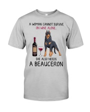 Wine and Beauceron 2 Classic T-Shirt front