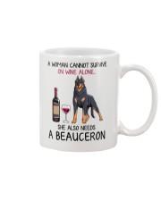 Wine and Beauceron 2 Mug thumbnail