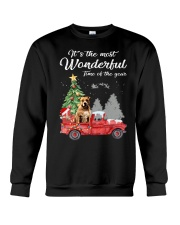 Wonderful Christmas with Truck - Pit Bull Crewneck Sweatshirt thumbnail