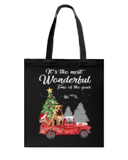 Wonderful Christmas with Truck - Pit Bull Tote Bag thumbnail