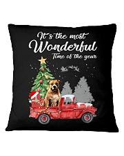Wonderful Christmas with Truck - Pit Bull Square Pillowcase thumbnail