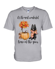 The Most Wonderful Time - Schipperke V-Neck T-Shirt thumbnail