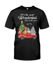 Wonderful Christmas with Truck - Dachshund Classic T-Shirt front