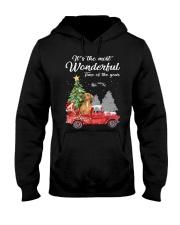 Wonderful Christmas with Truck - Dachshund Hooded Sweatshirt thumbnail
