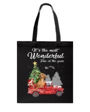 Wonderful Christmas with Truck - Dachshund Tote Bag thumbnail