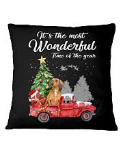 Wonderful Christmas with Truck - Dachshund Square Pillowcase thumbnail