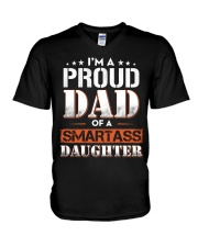 A Pround Dad Of A Smartass Daughter V-Neck T-Shirt thumbnail