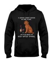 Wine and Irish Water Spaniel Hooded Sweatshirt thumbnail