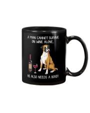 Wine and Boxer - Man version  Mug thumbnail