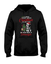 Christmas - Wine and Schnauzer Hooded Sweatshirt thumbnail