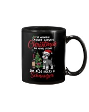 Christmas - Wine and Schnauzer Mug thumbnail