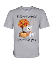 The Most Wonderful Time - Westie V-Neck T-Shirt thumbnail