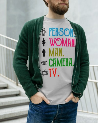man woman camera tv t shirt