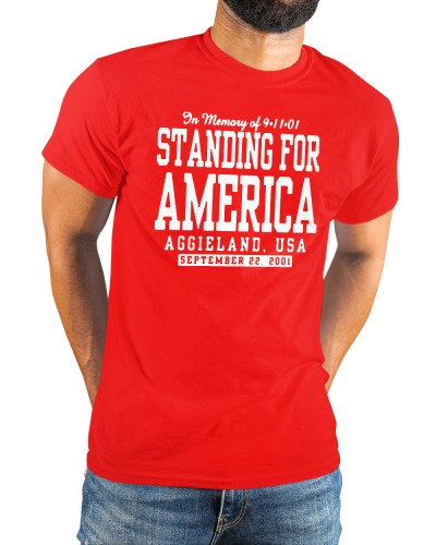 standing for america 20 year blue remembrance shirt