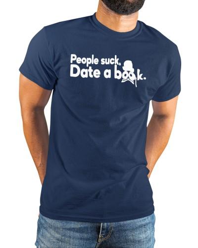 people suck date a book shirt