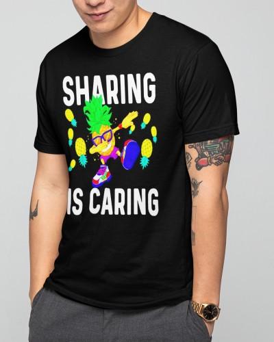 Swinger Pineapple shirt Men Upside down Sharing is Caring Shirt